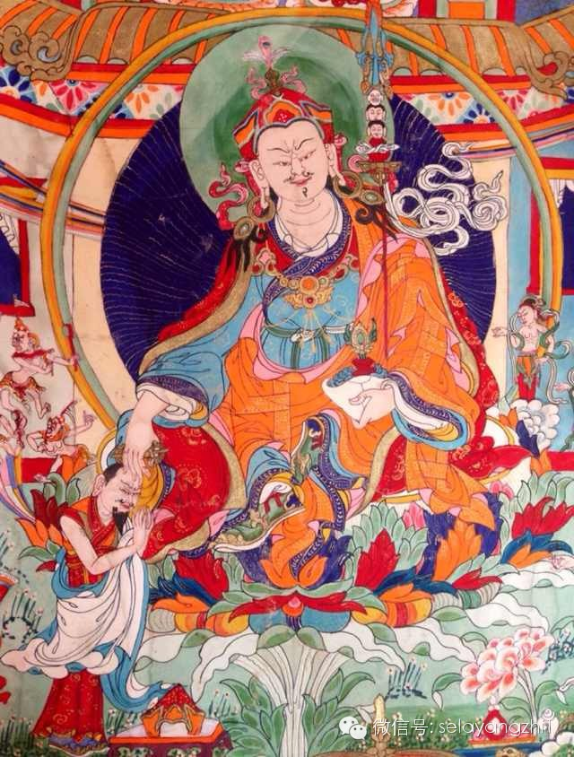 Guru Rinpoche Drawn From Vision